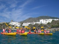 Kayak en Benalmádena. Despedida de soltera