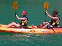 Kayak in coppia. Pantano del Chorro