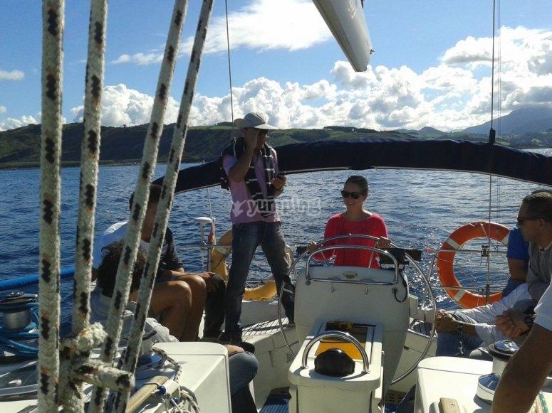 Navegando con el mar en calma