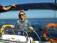 Navega en un catamarán