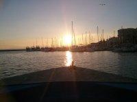 Atardecer en barco
