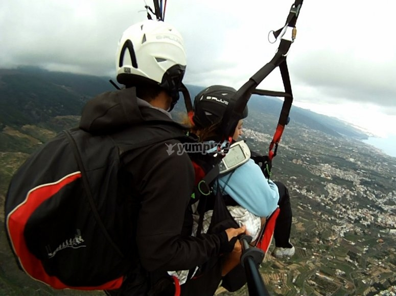 Paragliding over Tenerife
