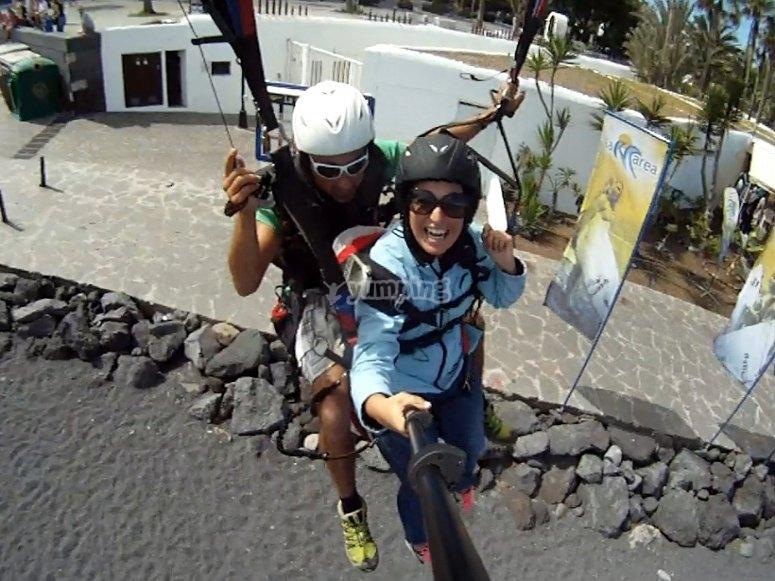 A thrilling paragliding flight in Tenerife!
