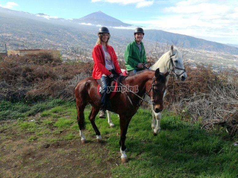 Montando a caballo en Tenerife