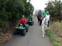 Grupo de quads y caballos