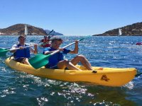 Young people in the kayak