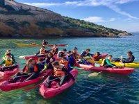 Ruta en kayak por la costa de Mazarron