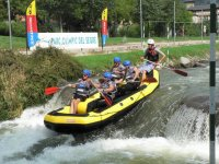 Rafting, always with the monitor