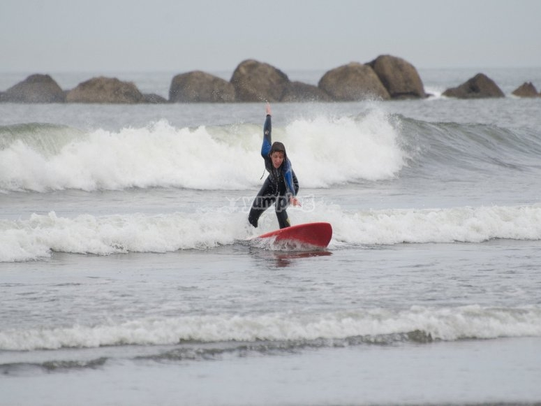 Catch waves in Cantabria