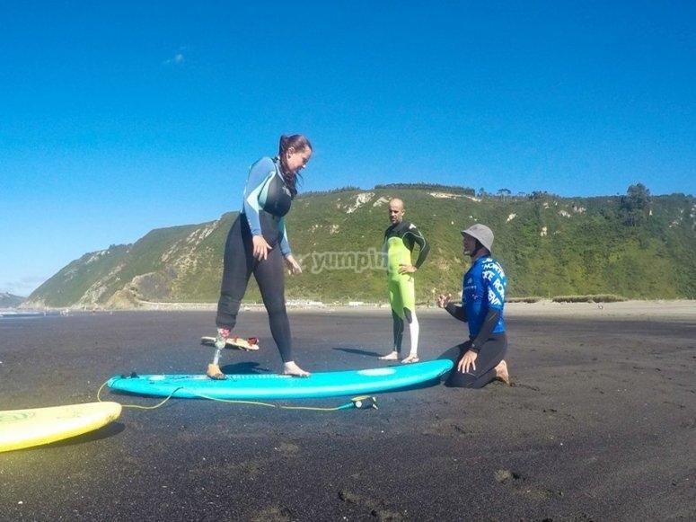 Non ci sono barriere al surf nelle Asturie