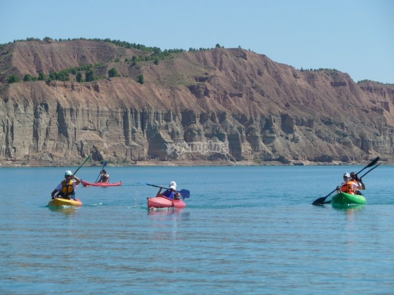 Ruta en kayak en el Negratin