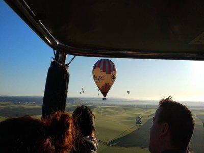 Itinerario in mongolfiera Vigneti della Rioja per bambini