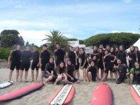 Los alumnos del surfcamp