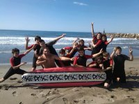 Our surf teacher and his students