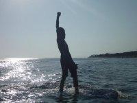 与日落冲浪