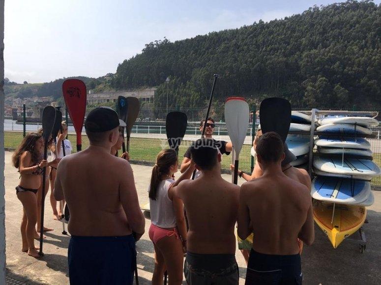 Clase previa paddle surf Asturias