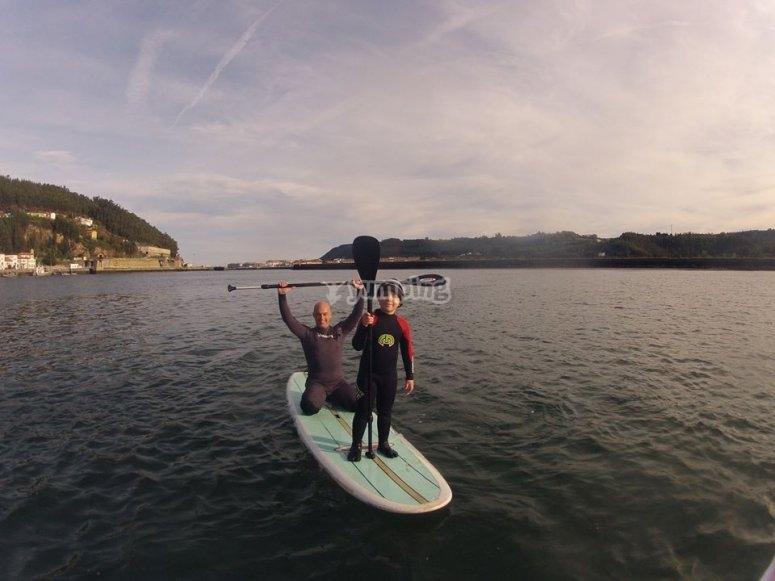 Paddle surf para grandes y pequenos en Asturias