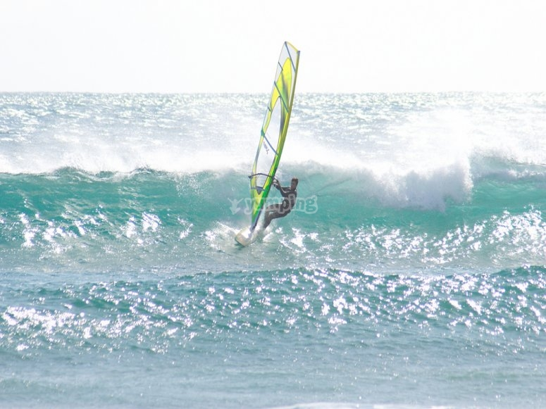 Windsurfing in Pollensa