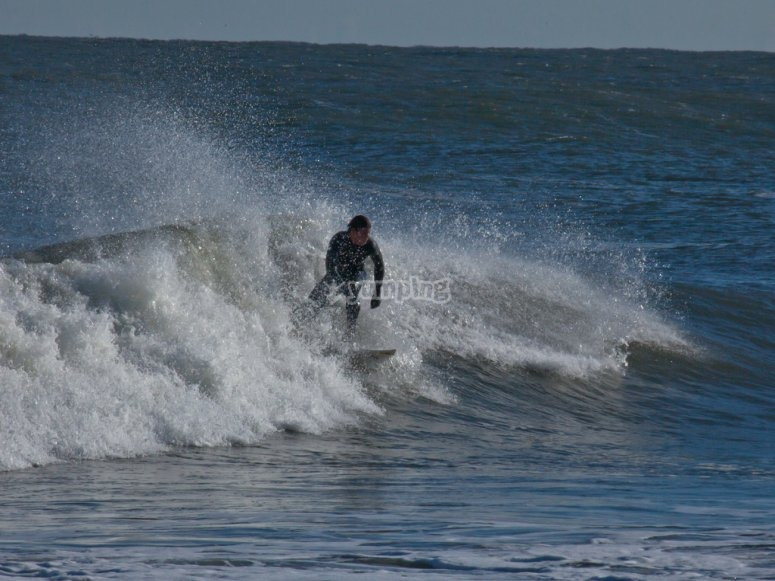 Surfing session