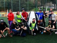 Jugadores de la partida de archery tag
