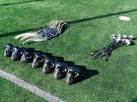 草地上的射箭标签材料