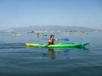 Fishing in kayaks