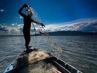 在Delta del Ebro钓鱼