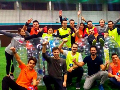 Bubble Football Barcelona Team Building