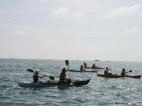Kayaks on the high seas