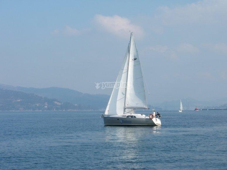 Navegando por ría de Vigo