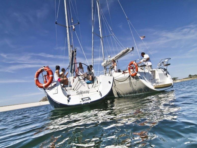 Paseo en barco en la ría de Vigo