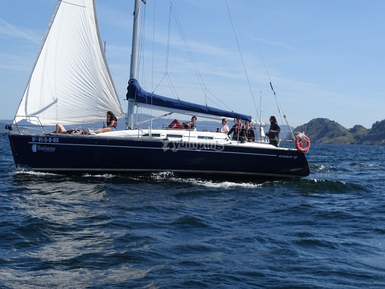 Durante el paseo en barco