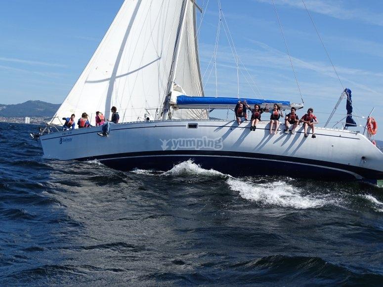 Sailing between the Islas Cíes