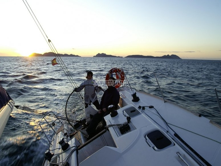 Paseo en barco a las Islas Cíes