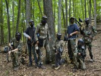 Play paintball in bachelor parties