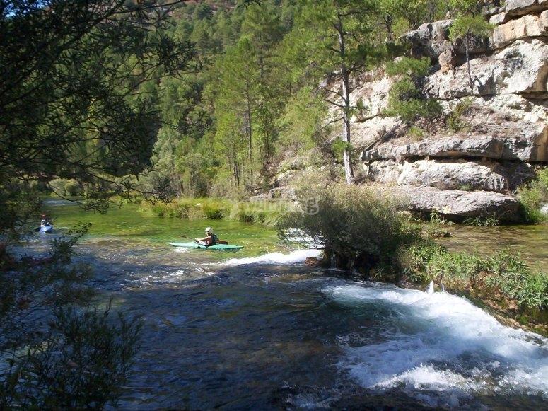 Combinación de piragüismo y snorkel