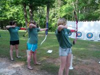 Practice archery in Delta del Ebro