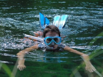 Sesión de snorkel en Parque Natural del Alto Tajo