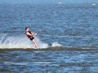 Practice water skiing