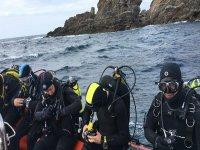 Battesimo d'immersione da Barco sulla costa di Lugo