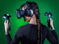 Jugadora de realidad virtual