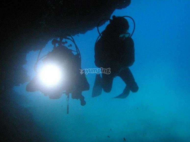 Dos inmersiones de buceo