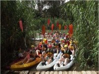 canoes on land