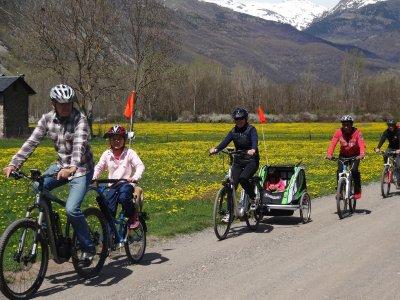 Paseo con e-bike por el Valle de Benasque, 2h.