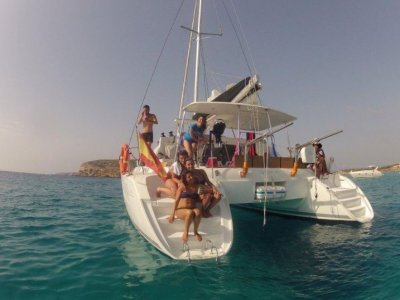 Catamaran rental with captain during one day