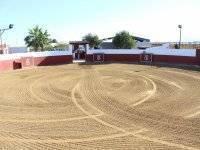 La arena de la plaza
