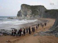 Corriendo en la playa