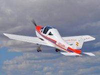 Airplane in full flight