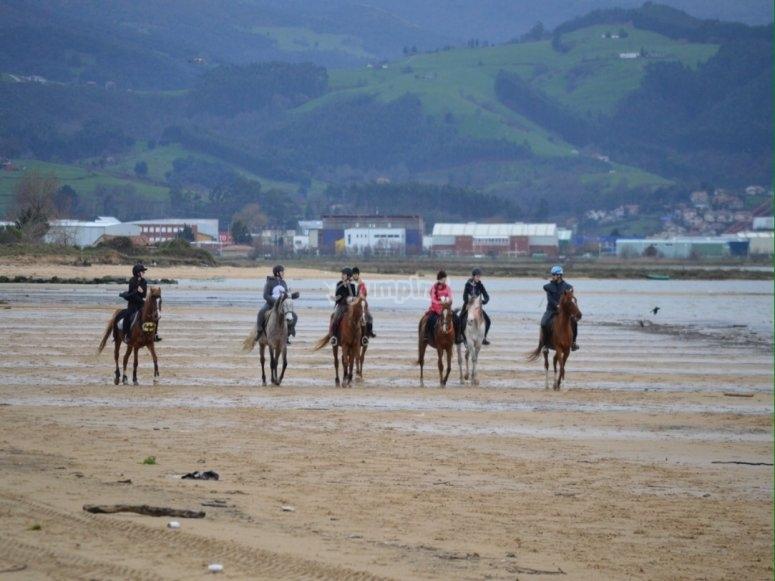 Paseo a caballo por la Playa El Regatón