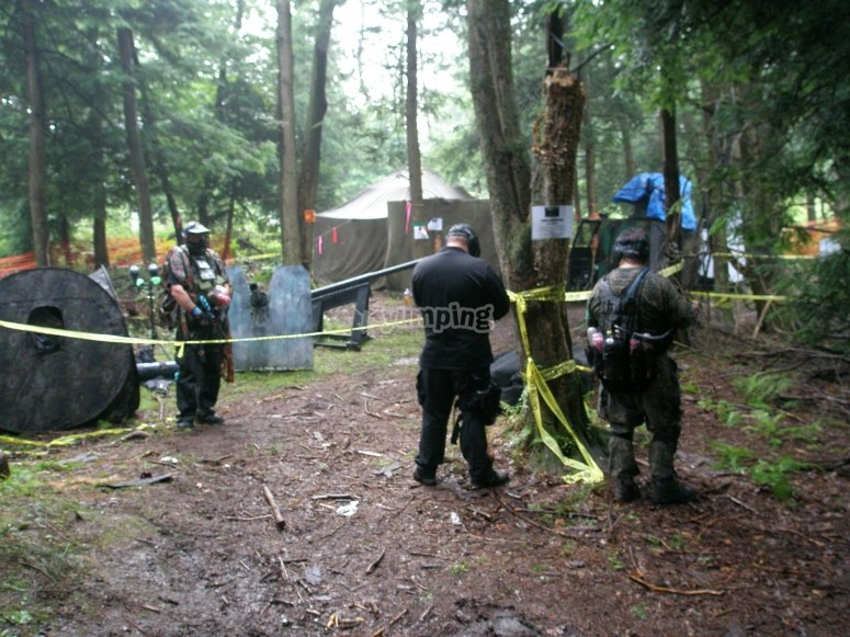 Paintball field in Cantabria